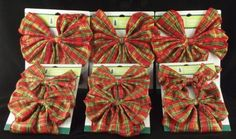 Holiday bows are a great way to deocrate your home this season. Classic and festive, these pre-tied bows include a wire tie that makes them easy to fasten to anything including porch posts and railings, stairway spindles, greenery, and more. These bows can also be used to decorate a holiday wreath with ease. This set includes 9 bows.