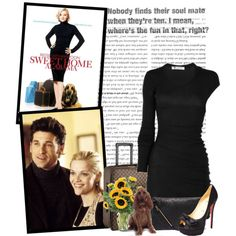 A fashion look from June 2010 featuring long sleeve ruched dress, black satin pumps and zippered leather tote. Browse and shop related looks. Sweet Home Alabama, Satin Pumps, Ruched Dress, Black Satin, Alexander Wang, Christian Louboutin, Films, Fashion Looks, Louis Vuitton