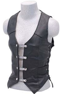 Classic Snap Button Vest Waistcoat chain and Leather Extender