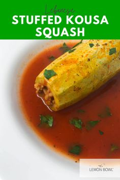 Kousa is stuffed with a savory meat and rice mixture and simmered in a flavorful tomato broth until tender. Lebanese Stuffed Kousa Squash is a true family favorite!
