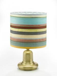 lampada artistica - tela dipinta a mano e ottone