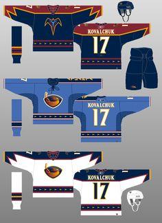 Atlanta Thrashers - The (unofficial) NHL Uniform Database Hockey Games, Ice Hockey, Hockey Sweater, Nhl Jerseys, National Hockey League, Thrasher, Best Games, Atlanta, The Past