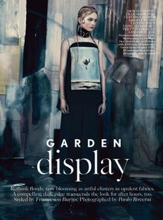 visual optimism; fashion editorials, shows, campaigns & more!: garden display: jean campbell by paolo roversi for uk vogue may 2014