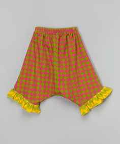 This Pink Harlequin Harem Capri Pants - Infant, Toddler & Girls by Right Bank Babies is perfect! #zulilyfinds