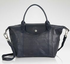 Longchamp Cuir Pliage - Small in Navy