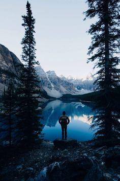 WOLVERXNE   Moraine Lake, Banff National Park - Canada   by: { circa 1983