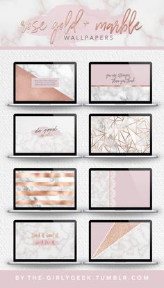 I had a few requests this week for some new marble and rose gold wallpapers, and I got way too carried away with them and ended up making about fifteen or so. I'm about to hit 20k (wtf?!!?) here on...