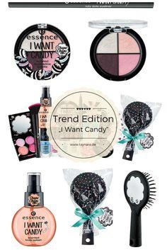 Die neue Trend I Want Candy von Essence verspricht viel süße Kosmetik. Nagellack, Make-Up, Kajal, Eyeshadow oder Lippenpflege. Die Edition verbirgt ein tolles Design, ganz nach Süßigkeiten und peppt die Beauty Produkte zuhause direkt auf!
