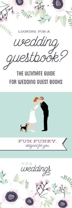 Looking for a wedding guest book? Look no further, this is the ultimate!
