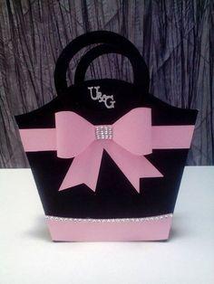 Paper purse paper handbag paper gift bag by UniqueandGlitzy