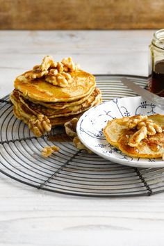 Oat-so-tasty oat pancakes made with Alpro Oat Original drink will have them coming back for more!
