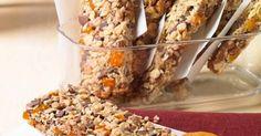 Vitalis prutići s marelicama Recept Brunch Bar, Eat Pray Love, Eat Smart, Snacks, Muesli, Diy Food, Vegan Recipes, Food And Drink, Low Carb