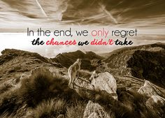 WallArt - In the End We Only Regret the Chances We Didn't Take - Presentorium