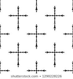 Imágenes similares, fotos y vectores de stock sobre cross tattoo vector ; 265510940 | Shutterstock Cross Tattoo Designs, Vector Art, Illustration Art, Christian, Pattern, Useful Tips, Crosses, Illustrations, Pictures