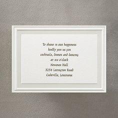 Pearl Poetry - Ecru - Reception Card weddingneeds.carlsoncraft.com
