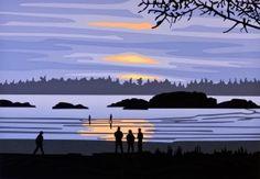 MacKenzie Beach - Tofino  Artwork by Roy Henry Vickers