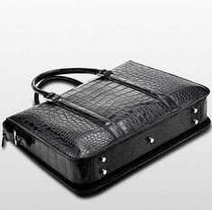 Men's Fashion Alligator Bag, Luxury Alligator Business Briefcase for Men Business Briefcase, Briefcase For Men, Trendy Mens Fashion, Mens Fashion Suits, Leather Keychain, Laptop Bag, Designer Wear, Luxury, Fashion Design