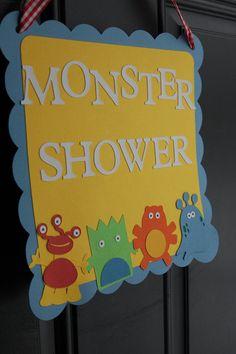 Monster Door Sign Monster Baby Shower Baby Bash by GiggleBees, $12.00