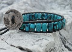 mens turquoise bracelet  www.randombalance.com  Want this for Mike