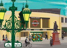 Tooting Broadway Tube Station - postcodeprints