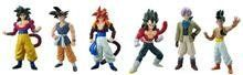 """Dragon Ball Z 4.5"""" Real Works Figures Set of 6 Dragonball Gt Characters. Includes Goku , Super Saiyan 4 Goku , Trunks , Super Saiyan 4 Gogeta , UUB , Super Saiyan 4 Vegeta by BANDAI. $69.95. MADE BY BANDAI. VERY HARD TO FIND!. OUT OF PRODUCTIN!. COMPLETE SET OF 6. Dragon Ball Z 4.5"""" Real Works Figures Set of 6 Dragonball Gt Characters. Includes Goku , Super Saiyan 4 Goku , Trunks , Super Saiyan 4 Gogeta , UUB , Super Saiyan 4 Vegeta. Dragon Ball Z 4.5"""" Real Works..."""