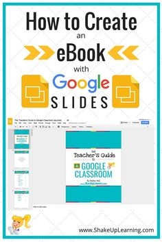 Did you know that Google Slides can be used for much more than just presentations? Google Slides is one of the most flexible learning tools in the Google Apps suite. In fact, I used Google Slides to create my eBook: The Teacher's Guide to Google Classroom! That's right!