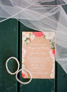 Romantic wedding invitation // Michael and Carina Photography