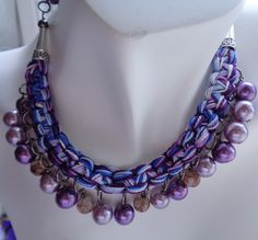 #purplechoker #macramechoker #chokernecklace #lavender #beadednecklace #squareknotchoker #lanesamarie #fashionjewelry #giftforher #womenaccessories #womenjewelry
