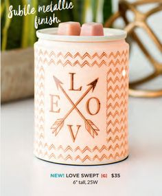 Scentsy Gold Arrows Love Swept Warmer. New for Scentsy Spring/Summer 2017. Order online or preorder at my website!