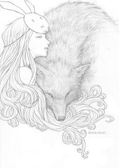 Wolf and bunny draw