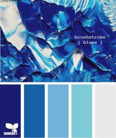 brushstroke blues Color Palette by Design Seeds Colour Schemes, Color Combos, Colour Palettes, Paint Schemes, Paleta Pantone, Marine Colors, Marine Blue, Color Palate, Deco Design
