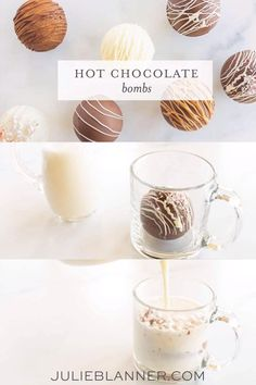 Learn how to make hot chocolate bombs for the holidays, the BEST gift! Melt them into a decadent mug of hot cocoa with a pour of warm milk. Hot Chocolate Gifts, Christmas Hot Chocolate, Chocolate Bomb, Hot Chocolate Bars, Hot Chocolate Recipes, Homemade Hot Chocolate, Christmas Snacks, Christmas Cooking, Kreative Snacks