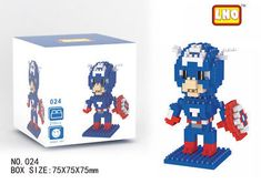 Captain America Nano Diamond Mini Building Block Toy Marvel's The Avengers 024: $0.01 (0 Bids) End Date: Friday Apr-13-2018 21:33:05 PDT…