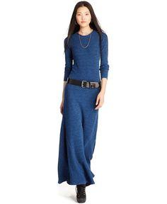 Polo Ralph Lauren Long-Sleeve Knit Maxi Dress