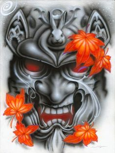 samurai tattoo design a color - Buscar con Google: