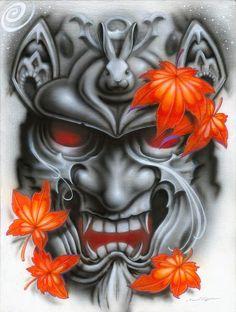 samurai tattoo design a color - Buscar con Google:
