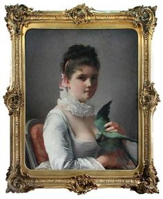 View Portrait of a lady with a parrot by Jeanne Bole on artnet. Browse upcoming and past auction lots by Jeanne Bole. Curious Creatures, Global Art, Art Market, Parrot, Oil On Canvas, Presents, Portrait, Lady, Cambridge