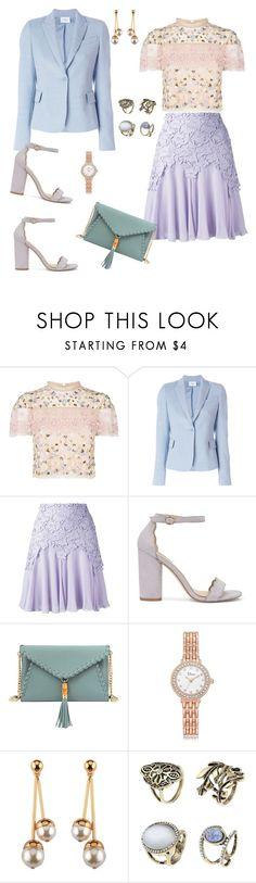 """lace skirt"" by marlenewelke ❤ liked on Polyvore featuring Needle & Thread, Akris, Giambattista Valli, Miss Selfridge and Mellow World"