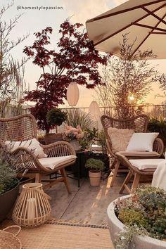 Rooftop Design, Terrace Design, Garden Design, Terrace Ideas, Garden Ideas, Balcony Ideas, Small Balcony Decor, Balcony Decoration, Table Decorations