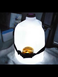 DIY night light...for all those nightly trips to the bathroom...in the cold, in the dark, across the camp grounds lol..
