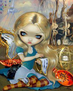 Alice in a Dali Dream surreal wonderland fairy art print by Jasmine Becket-Griffith12x16 BIG