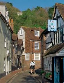Lewes, East Sussex.  We stayed at the White Hart Inn when we were in Lewes.