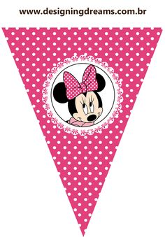 Mickey E Minnie Mouse, Theme Mickey, Pink Minnie, Minnie Mouse Birthday Decorations, 5th Birthday Party Ideas, Mickey And Friends, Mouse Parties, Baby Party, Baby Disney