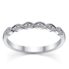 Jeff Cooper 14K White Gold Diamond Wedding Ring