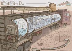 Концепт машины для выживания в пост апокалипсиса