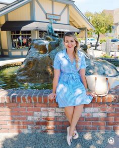 "When in Solvang always visit the ""The Little Mermaid""  Shop the cutest gingham dress and embroidered flats on the brand new LIKEtoKNOW.it page on my blog!  http://liketk.it/2s37s  #liketkit @liketoknow.it - ----------------------------------------------------------- Quando você estiver em Solvang sempre visite ""A Pequena Sereia""  Esse vestido lindo da @makemechic e sapatilhas da @amiclubwear estão disponíveis para compra na aba LIKEtoKNOW.it do blog! (Entregas em todo o Brasil )"