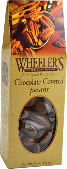 Wheeler's Chocolate Covered Pecans, 5 oz.