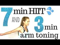 7 Minute HIIT Home Full Body Workout the Arm Exercises for Women Routine - Real Time Workout Video 7 Minute Workout, Butt Workout, Arm Toning Exercises, Morning Exercises, What Is Hiit, Lose Arm Fat, Lose Belly, Der Arm, Routine