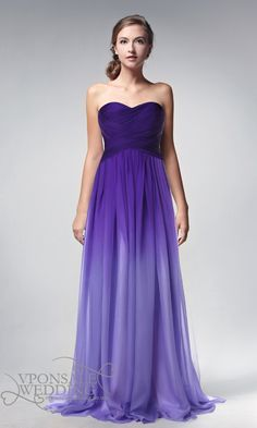 strapless full length ombre purple prom dresses 2014 DVP0002 | VPonsale Wedding Custom Dresses
