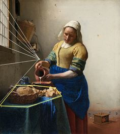The Milkmaid (diagram), Johannes Vermeer